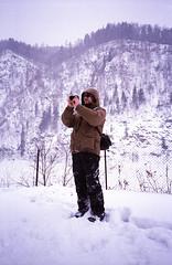 Brevno outtakes (Igor Verkhovskiy) Tags: 35mm film fujifilm yashicat4 yashica filmcollective analogcamera analogfeatures filmforlife filmnotdead filmcommunity naturallight man portrait mountains snowy