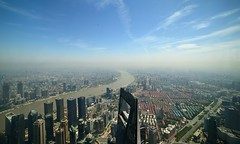 Shanghai - Top of Shanghai (cnmark) Tags: china shanghai pudong new area lujiazui financial district tower world center swfc huangpu river famous scenic landscape cityscape skyscraper wolkenkratzer gratteciel grattacielo rascacielo arranhacéu 中国 上海 浦东 陆家嘴 黄浦江 上海环球金融中心 ©allrightsreserved