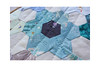 Started hand quilting - WIP (balu51) Tags: blue black green juni grey quilt natural linen teal sewing wip quilting scraps hexagons patchwork 2019 handquilted machinepieced handquilting quiltingcotton stashsewing copyrightbybalu51 scrappyflowerquilt