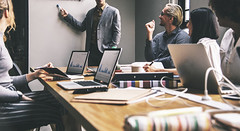 What Are The Types Of Interpretation Work In A Business Setting? (jenniegwest) Tags: work team plan startup trend talking profit success strategy
