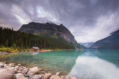 Lake Louise - Early morning D85_4519.jpg (Mobile Lynn) Tags: water rock moody lake landscape mountain landscapephotography outdoorphotography improvementdistrictno09 alberta canada