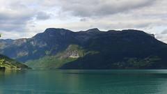 Evening on Gairanger Fjord (abrideu) Tags: abrideu canoneos100d gairangerfjord norway landscape mountains water sky clouds