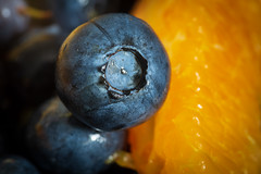 Complementary Colors - HMM! (suzanne~) Tags: macromondays complementarycolours complementarycolors blueberry orange macro food fruit