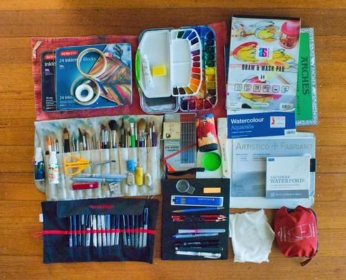 #217/365 My Plein Air & Travel Art Kit