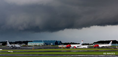 Storm rolling in over Prestwick Airport 30 mins before it hit Prestwick with all it could give - rain,thunder and lightning and spectacular it was too. 31/7/19 (BS Images.) Tags: aircraft airport aviation ayrshire egpk glasgowprestwick gpa prestwick prestwickairport pik southayrshire scotland