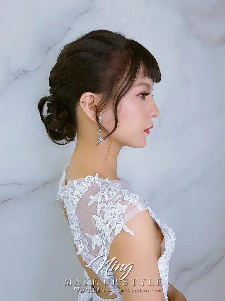 【新秘羽寧】新娘造型創作 / 氣質盤髮造型