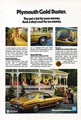 1973 Plymouth Gold Duster Sport Coupe Chrysler Corporation USA Original Magazine Advertisement (Darren Marlow) Tags: 1 3 7 9 19 73 1973 p plymouth g gold d duster c chrysler corporation car cool collectible collectors classic a automobile v vehicle u s us usa sport coupe united states american america 70s