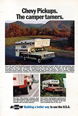 1973 Chevrolet Chevy Pickup Truck Campers USA Original Magazine Advertisement (Darren Marlow) Tags: 1 3 7 9 19 73 1973 c chev chevy chevrolet p pickup t truck car cool collectible collectors classic a automobile v vehicle g m gm general motors u s us usa united states american america 70s