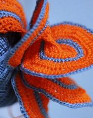 hyperbole (Winter Ghosts) Tags: orange blue crochet hyperbolic complementarycolours macromondays opposites