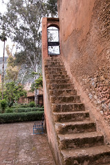 Stairs to nowhere and HBM (Irina1010) Tags: stairs door nowhere bench fort kasbach morocco chefchaouen architecture museum canon