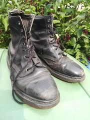 Doc. Martins. (daveandlyn1) Tags: docmartins blackboots boots in bin smartphone psdigitalcamera cameraphone pralx1 p8lite2017 huaweip8 folige dof depthoffield