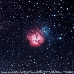 M20, Trifid Nebula (achrntatrps) Tags: rcw146 nébuleusetrifide trifidnebula m20 ngc6514 sh230 nightshot d5300 nikon photographe photographer alexandredellolivo dellolivo lachauxdefonds suisse nuit night nacht achrntatrps achrnt atrps radon200226 radon etoiles stars sterne estrellas stelle astronomie astronomy noche notte suivi astrophotographie eosforastro hii regionhalpha skywatcher eq6rpro skywatcherquattro200p