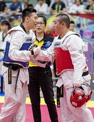 Pesta Sukan 20190804_Taekwondo_Photo by Foo Tee Fok (footeefok) Tags: singapore pestasukan2019 sports taekwondo fights peoples contactsports