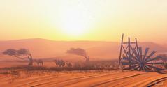 [ Sunset @ Devins Eye ] (A.Lavarock) Tags: landscape land scape desert sunset camels devinseye sim devin2