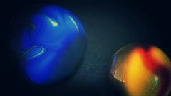 """""""Complementary Colours"""" (Marina Is) Tags: complementarycolours colorescomplementarios azul naranja amarillo canicas marbles eclipse macromondays hmm"""