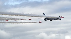 British Airways 100 Flypast (Nigel Musgrove-2.5 million views-thank you!) Tags: boeing 747 747400 400 jumbo jet passenger boac retro livery years ba british airways the red arrows raffairford fairford raf riat 2019 air tattoo royal international 100 gloucestershire england uk cotswolds airliner