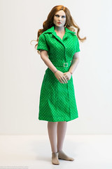 Retro Green Dress (edwicks_toybox) Tags: 16scale fighterwoman tbleague bikini dress femaleactionfigure phicen seamlessbody