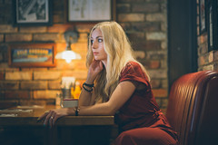 Mandy - Diner 2 (Robbie Khan) Tags: 1 2019 35mm 85mm ambience ambient cafe canon5dmk3 canon5d3 canonphoto friendlyphilsdiner hampshire headshots khanphoto mandyrose portsolent portrait portraits robbiekhan