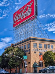 streets of San Francisco (dalecruse) Tags: streetsofsanfrancisco streets san francisco california cocacola coca cola coke sign street sky blue skyblue bluesky