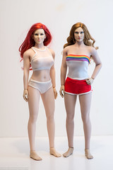 Roller Girl Outfits (edwicks_toybox) Tags: 16scale cattoys fighterwoman firered tbleague bikini femaleactionfigure fireredrose flirtygirl phicen rollergirl seamlessbody