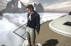 The Sea (Sadwolf SL Photos) Tags: hipstermenevent mom shorts sailor sea boat pants shades shirt gild slmodel slphotographer slblogger slfashion mesh bentp avatar secondlife sl virtualwprld fshion newreleases sealandscape