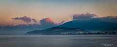 Morning on the shore (Through_Urizen) Tags: category erdek kapidag panorama places seascape turkey canon canon70d tamron70200g2 shoreline coast coastline headland sea water sky mist haze clouds morning dawn colours pastels hills mountains