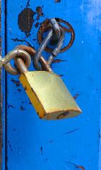 DETALL D'UNA PORTA BLAVA (Joan Biarnés) Tags: maiàdemontcal garrotxa 330 panasonicfz100 puerta porta detall macro