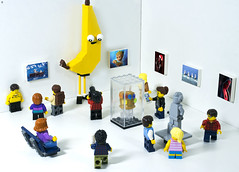 The Gallery (Jezbags) Tags: gallery lego legos toy toys photo toyphotography canon canon80d 80d 100mm macro macrophotography macrodreams macrolego banana gauntlet infinitygauntlet people art