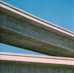 Highways 87 & 85 Interchange (bior) Tags: hasselblad500cm fujipro 160ns pro160ns mediumformat 120 overpass interchange highway87 highway85 ca87 ca85 highway freeway sanjose santaclaravalley