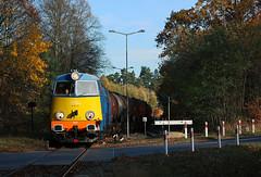 301Db-143 w jesiennej szacie w Barnówku (Kospal) Tags: train railroad locomotive su45 su45141 301db 301db143 barnówko zachodniopomorskie unikol