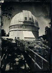 100 Inch Telescope (Blurmageddon) Tags: senecaimprovedview 5x7 largeformat wetplatecollodion alternativeprocess uvphotographics uvpx epsonv700 coppersulfatedeveloper tintype alumitype mountwilson observatory landscape ndgraduatedfilter telescope