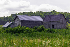 Old Barn (AChucksEyeView) Tags: barn red nature old rustic wood green sky clouds