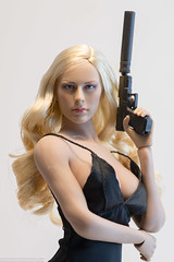 ZY Toys ZY5025 Evening Gown Set (edwicks_toybox) Tags: 16scale tbleague blonde eveninggown femaleactionfigure girlswithguns glock highheels phicen pistol seamlessbody stockings suppressor zytoys