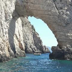 Keri Caves. Zakynthos. Greece...... (markwilkins64) Tags: bluecaves greece ioniansea blue water sea boat arch markwilkins