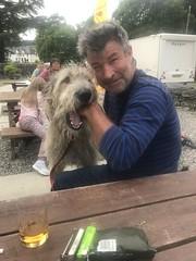 With Karhu and Malt at the Roybridge Inn (andywalker1) Tags: andrewwalker scotland karhu irishwolfhound wolfhound paddywhack
