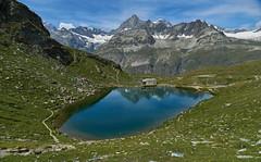 Schwarzsee (ivoräber) Tags: schwarzsee zermatt switzerland lake mountain church sony schweiz systemkamera swiss suisse