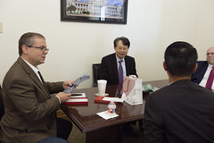 8-5-19 Taiwan Delegation & SOS Thurston (Arkansas Secretary of State) Tags: 8519 taiwan delegation sos thurston meeting romm 256 arkansas state capitol