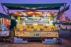 Fruit Juice Stand (patuffel) Tags: djemaa elfnaa square marrakesh morocco marokko blue hour fruit juice stand leica 28mm summicron 20 m10