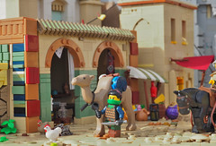 On the Streets of Aquila (W. Navarre) Tags: summer lego fig camel minifig build joust entry navarre aguila moc ladyhawke