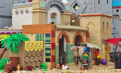 The Streets of Aquila (W. Navarre) Tags: lego camel fig minifig aguila navarre ladyhawke entry summer joust build moc