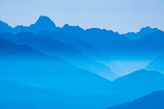 Shades of Blue (skweeky ツ) Tags: backlight silhouette shadow blue mountains nuance bleu alps alpes collines vallée shade