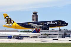 N632JB  A320-232  JetBlue Airways (n707pm) Tags: n632jb a320 airbus 320 airport airplane aircraft airline jbu jetblueairways kfll fll fortlauderdale fortlauderdalehollywood 30072019 cn2647 bostonbruinscolours bearforceone