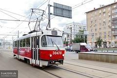 Moskau (RUS) (Robert Leichsenring) Tags: tramway tramwaj tramvaj tram strassenbahn streetcar strasenbahn moskau moscow russia russland трамвай россия москва tatra tatrawagen