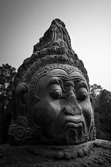 Angkor Wat, Cambodia (pas le matin) Tags: travel voyage world sculpture statue cambodia cambodge asia asie southeastasia bw nb blackandwhite noiretblanc monochrome siemreap angkorwat angkot temple bouddhism ruines ruins canon 7d canon7d canoneos7d eos7d stone pierre
