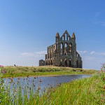Whitby Abbey and lake. thumbnail