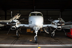 Beechcraft King Air 90 : Bielefeld : EDLI : Germany (Benjamin Ballande) Tags: beechcraft king air 90 bielefeld edli germany