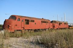 BLDX: MX 1018 und MX 1040 abgestellt in Køge (Helgoland01) Tags: nohab diesellok dsb dänemark danmark denmark eisenbahn railway køge