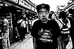 Close Up Asakusa (Victor Borst) Tags: street streetphotography streetlife reallife real realpeople portrait portraits asian asia asians faces face candid travel travelling trip traveling urban urbanroots urbanjungle blackandwhite bw mono monotone monochrome asakusa tokyo japan japanese city cityscape citylife expression fuji fujifilm xpro2 happyplanet asiafavorites