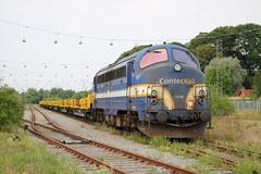 ContecRail: MY 1158 mit Bauzug in Fredericia (Helgoland01) Tags: nohab diesellok dsb dänemark danmark denmark eisenbahn railway