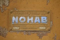 NOHAB: Fabrikschild der ex DSB MX 1040 (Helgoland01) Tags: nohab diesellok dsb dänemark danmark denmark eisenbahn railway køge